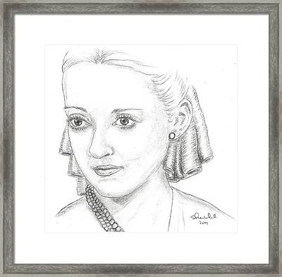 Bette Davis Framed Print