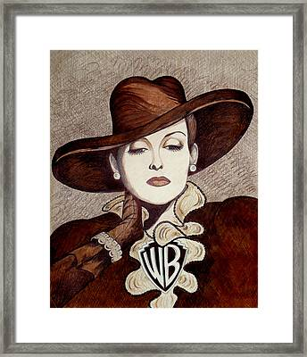 Bette Davis The Warner Brothers Years Framed Print