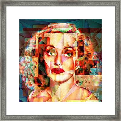 Framed Print featuring the photograph Bette Davis What Ever Happened To Baby Jane 20170418 Square by Wingsdomain Art and Photography