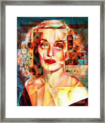 Framed Print featuring the photograph Bette Davis What Ever Happened To Baby Jane 20170418 by Wingsdomain Art and Photography