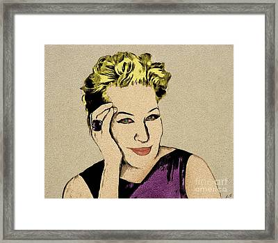 Bette Midler Framed Print