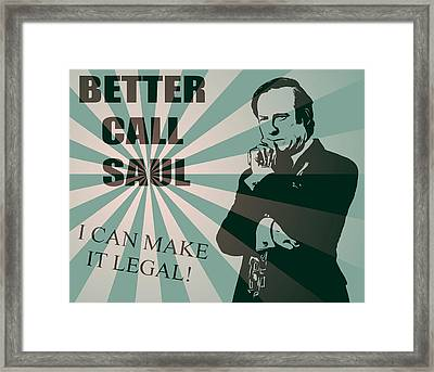 Better Call Saul Framed Print by Dan Sproul