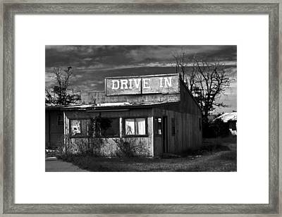 Better Days - An Old Drive-in Framed Print