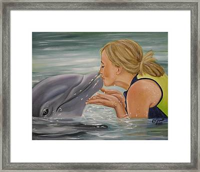 Framed Print featuring the painting Better Than Kissing A Frog by Joni McPherson