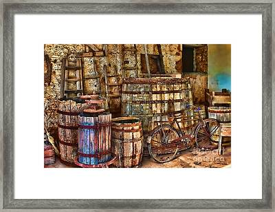 Better With Age Santorini Greece Framed Print