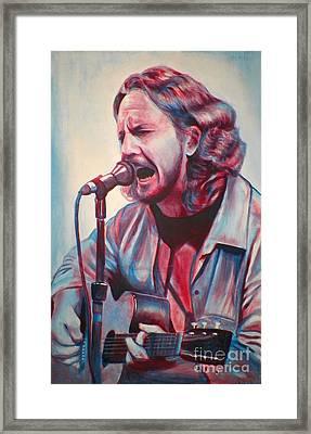 Betterman Eddie Vedder Framed Print by Derek Donnelly