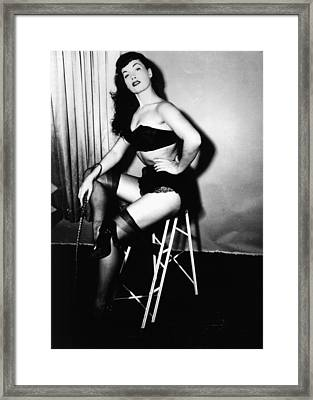Bettie Page Framed Print by American School