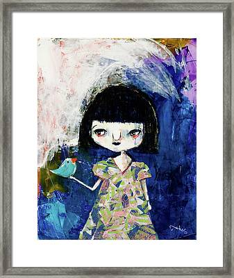 Betty And Blue Framed Print