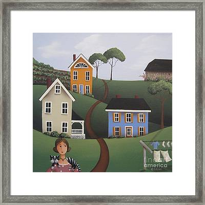 Betty And Oreo Framed Print by Catherine Holman