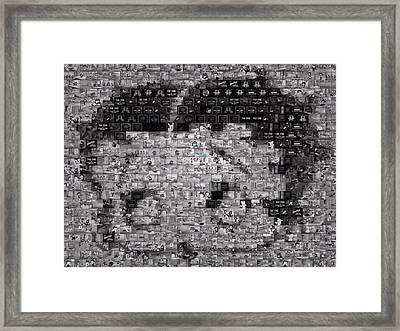 Betty Boop Mosaic Framed Print
