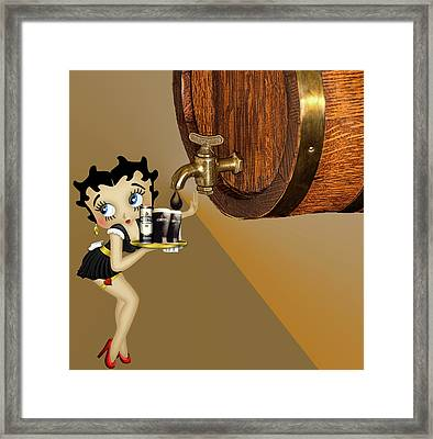 Betty Boop Serving Murphys Framed Print