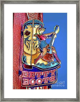 Betty Boots 2 Framed Print
