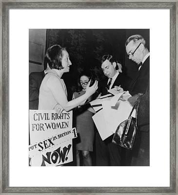 Betty Friedan, President Framed Print