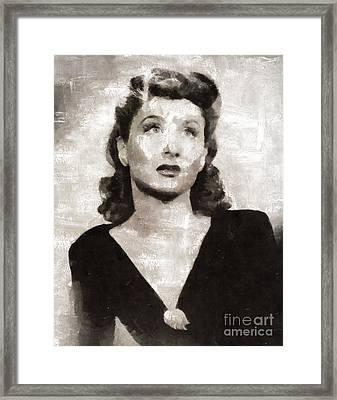 Betty Garrett, Actress Framed Print by Mary Bassett