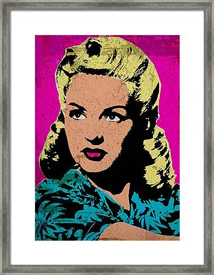 Betty Grable 3 Framed Print by Otis Porritt