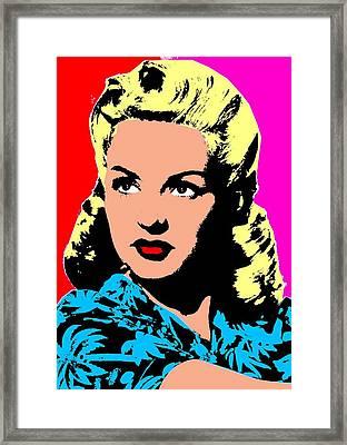 Betty Grable 4 Framed Print