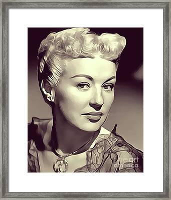 Betty Grable, Actress And Pinup Framed Print