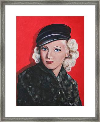 Betty Grable Framed Print by Dyanne Parker