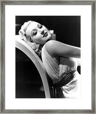 Betty Grable In The 1930s Framed Print