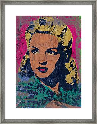 Betty Grable 2 Framed Print by Otis Porritt