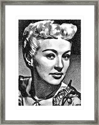 Betty Grable, Vintage Actress And Pinup By Js Framed Print