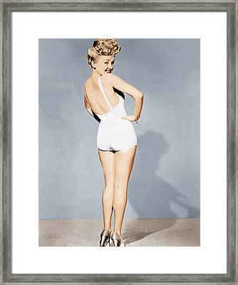 Betty Grable, World War II Pin-up, 1943 Framed Print
