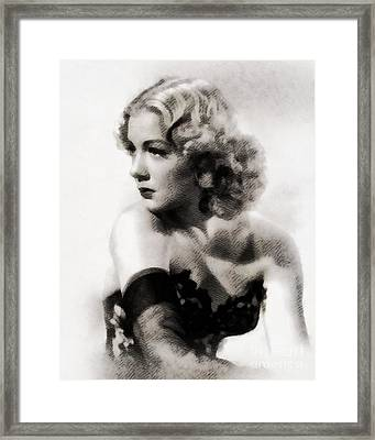 Betty Hutton, Vintage Actress By John Sprignfield Framed Print by John Springfield
