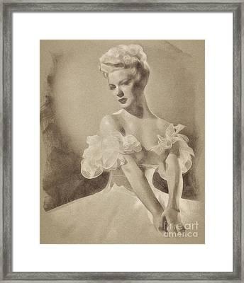 Betty Hutton, Vintage Actress By John Springfield Framed Print