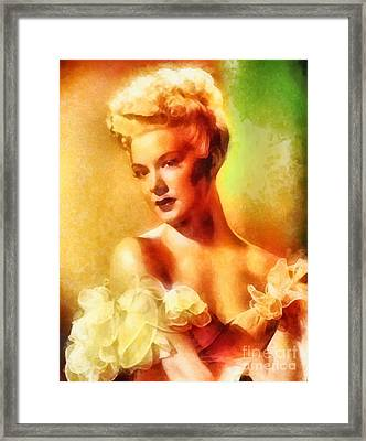Betty Hutton, Vintage Hollywood Actress Framed Print