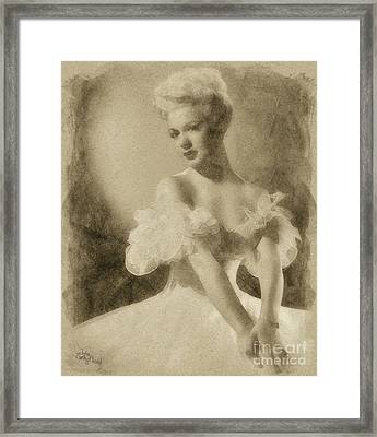 Betty Hutton, Vintage Hollywood Actress Framed Print by John Springfield