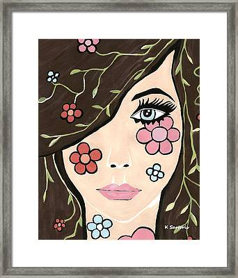 Framed Print featuring the painting Betty by Kathleen Sartoris