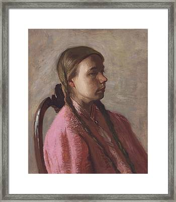 Betty Reynolds Framed Print by Thomas Eakins