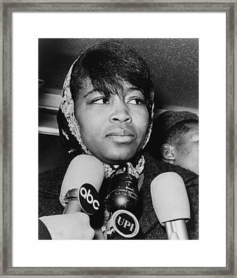 Betty Shabazz 1934-1997, Wife Framed Print
