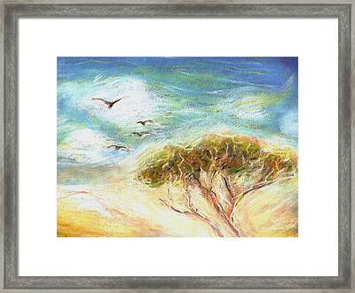 Framed Print featuring the drawing Betty's Tree by Denise Fulmer