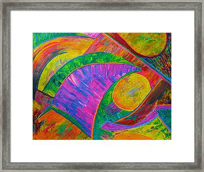 Framed Print featuring the painting Between A Rock And A Hard Place by Polly Castor