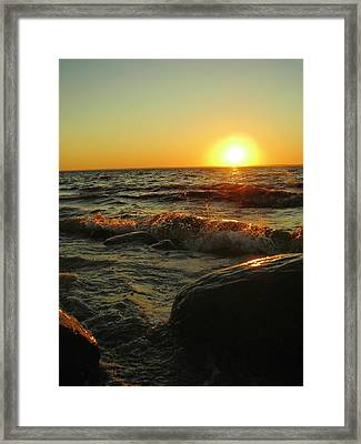 Between A Rock And A Sunny Place Framed Print by Peter Mowry
