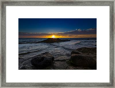 Between A Rock And Hard Place Framed Print