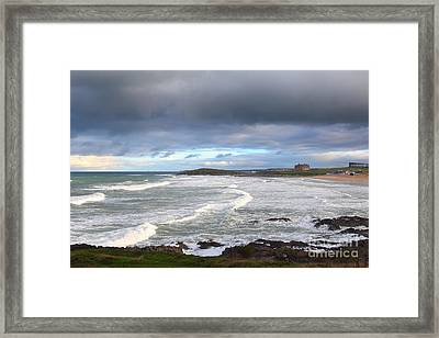 Framed Print featuring the photograph Between Cornish Storms 1 by Nicholas Burningham
