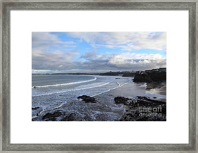 Framed Print featuring the photograph Between Cornish Storms 2 by Nicholas Burningham