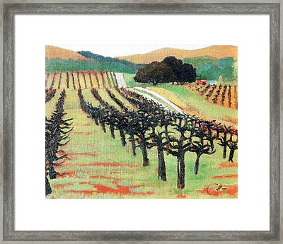 Framed Print featuring the painting Between Crops by Gary Coleman