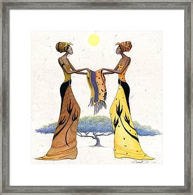 Between Friends Framed Print by Albert Fennell