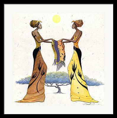 African Clothing Framed Prints