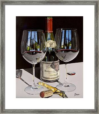Between Friends Framed Print by Brien Cole