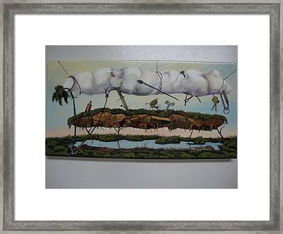 Between Heaven And Earth Framed Print by Carlos Rodriguez Yorde