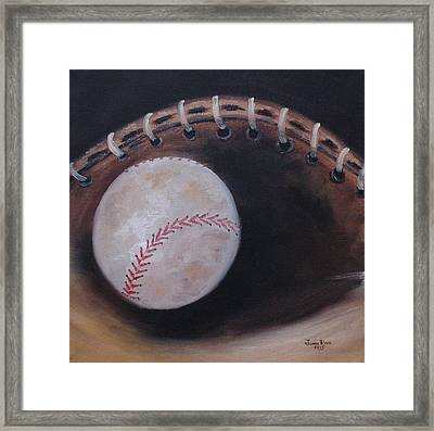 Between Innings Framed Print