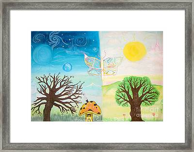 Between Life And Death Framed Print by Sacred  Muse