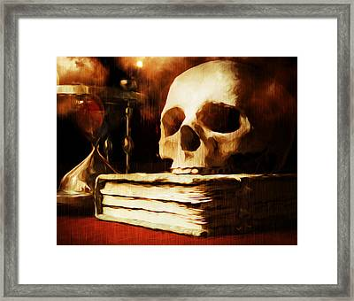 Between Life And Death Is A Dash Framed Print by Georgiana Romanovna