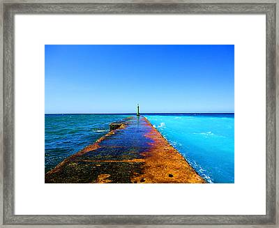 Between Ocean And The Sea Framed Print by Yury Bashkin