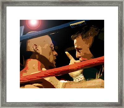 Between Rounds Framed Print by David Lee Thompson