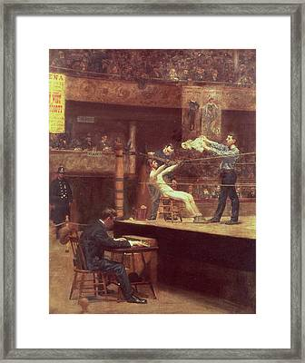 Between Rounds Framed Print by Thomas Cowperthwait Eakins